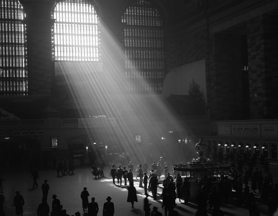 The interior of the Grand Central Station is seen with the sun streaming through the window in New York in this undated handout photo